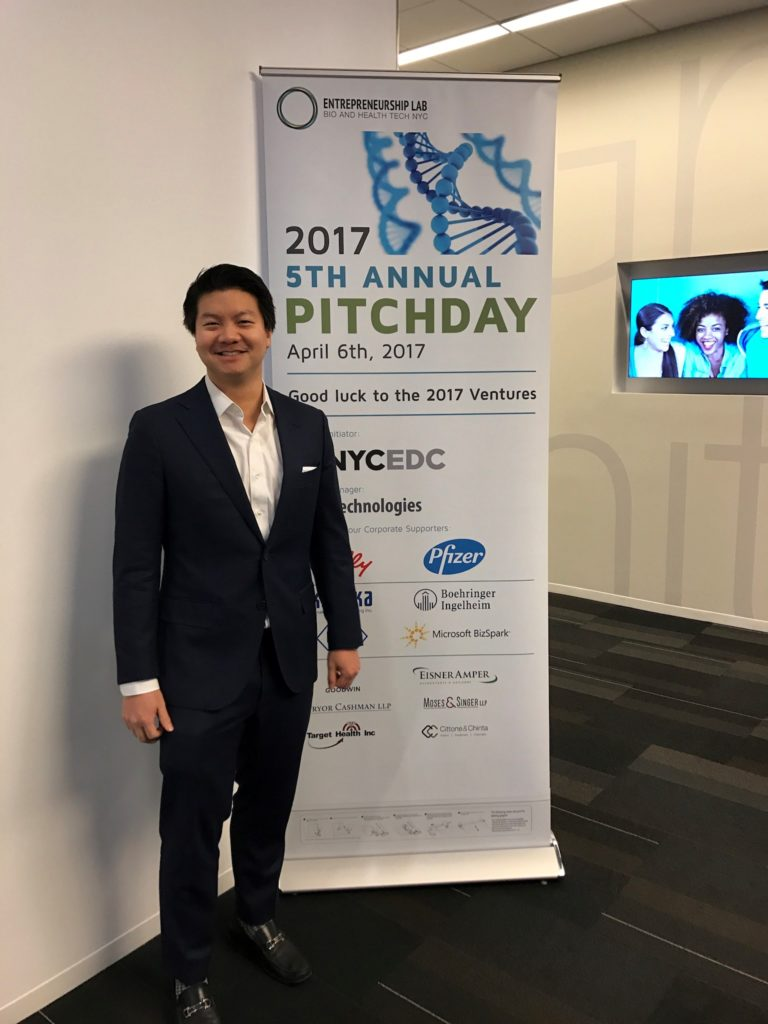 Brian Pan, BioHealthWays, at ELabNYC 2017 Pitch Day